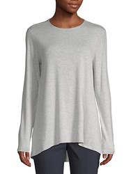 Saks Fifth Avenue Black Long Sleeve Swing Tee Shadow