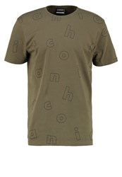 Antioch Letter Print Tshirt Olive Green