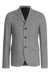 Carven Printed Blazer With Wool Multicolor