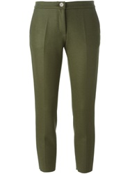 Erika Cavallini Semi Couture 'New York' Cropped Trousers Green