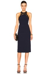 Galvan High Neck Cocktail Dress In Blue