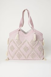 Handm Tasseled Shopper Pink