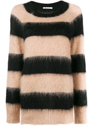 Alexander Wang T By Striped Oversized Jumper Black