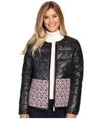 Hatley Down Fill Reversible Jacket Black Women's Coat