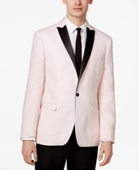 Bar Iii Men's Slim Fit Linen Dinner Jacket Only At Macy's Pink