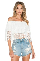 Oh My Love Off The Shoulder Blouse White