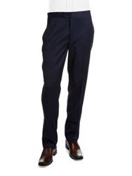 Tallia Orange Mason Collection Wool Tuxedo Pants Dark Blue