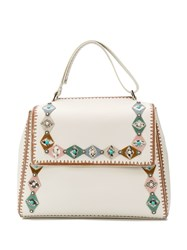 Orciani Sveva Embellished Large Bag White