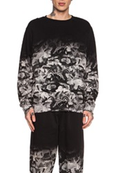 Marcelo Burlon Allover Cotton Crew Neck In Black Animal Print