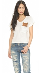Wildfox Couture Pocket Fox Tee Vintage Lace