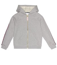 Little Marc Jacobs Cotton Hoodie Grey