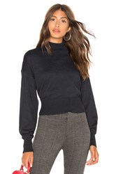 Line And Dot Carly Balloon Sleeve Sweater Black