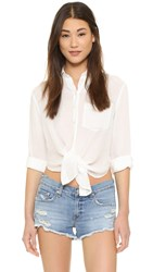 Free People That's A Wrap Shirt Ivory