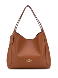 Coach Polished Pebble Hobo Brown