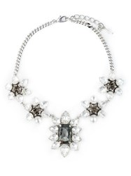 Dsquared2 'Queen Mary' Embellished Necklace White