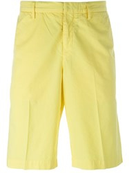 Kenzo Chino Bermuda Shorts Yellow And Orange