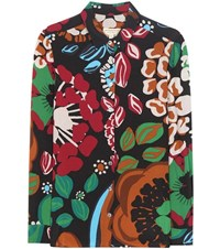 Burberry Printed Silk Blouse Multicoloured