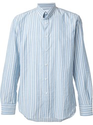 Umit Benan Striped Shirt Blue