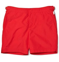 Orlebar Brown Bulldog Mid Length Swim Shorts Red