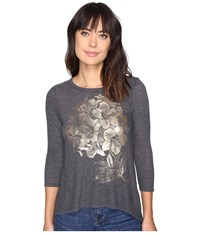 Lucky Brand Gold Azalea Tee Black Beauty Women's T Shirt