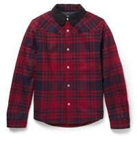 A.P.C. Paolo Plaid Wool Blend Flannel Jacket Red