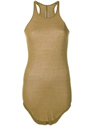 Rick Owens Knitted Tank Top Neutrals