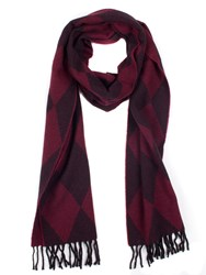 Dents Women S Woven Harlequin Scarf Red