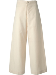 Yohji Yamamoto Vintage Wide Leg Trousers Nude And Neutrals