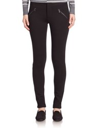 Paige Clarence Ponte Zippered Pants Black
