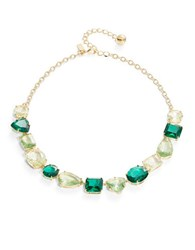 Kate Spade Faceted Crystal Collar Necklace Green
