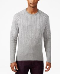 Inc International Concepts Men's Jacquard Star Fall Sweater Only At Macy's Heather Grey