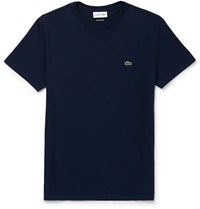 Lacoste Slim Fit Cotton Jersey T Shirt Navy