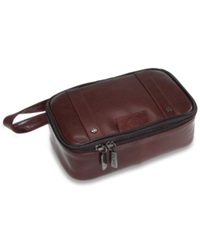 Dopp Kit The Elite Collection Veneto Top Zip Travel Kit Brown