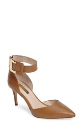 Louise Et Cie Women's Keene Ankle Strap D'orsay Pump Camel Leather