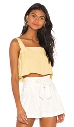 Capulet Esme Cropped Camisole In Yellow. Lemon