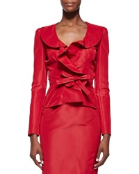 Oscar De La Renta Bow Front Cocktail Blazer Women's