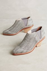 Anthropologie Matt Bernson Marlow Woven Booties Grey