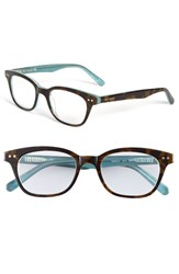Women's Kate Spade New York 'Rebecca' 49Mm Reading Glasses Tortoise Aqua
