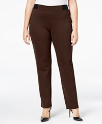 Jm Collection Plus Size Pull On Pants Only At Macy's Espresso Roast