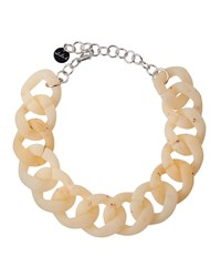 Alisha.D Speckled Acrylic Curb Link Necklace Onice