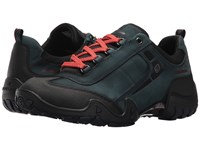 Allrounder By Mephisto Fina Tex Black Rubber New Petrol G Nubuck Lace Up Casual Shoes Green