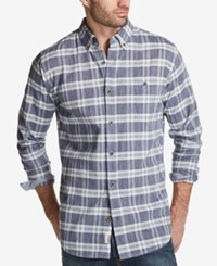 Weatherproof Vintage Men's Plaid Shirt Navy