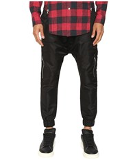 Mostly Heard Rarely Seen Fst Jersey Cargo Harem Pants Black