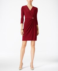 Charter Club Petite Crossover Wrap Dress Only At Macy's New Red Amore