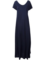 Aspesi V Neck Maxi Dress Blue