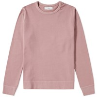 Officine Generale Garment Dyed New Sweat Pink