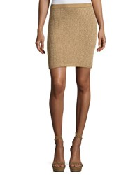 Ralph Lauren Knit Mini Skirt Gold