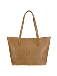 Gigi New York Teddie Python Embossed Leather Tote Spruce Bone Tan Slate Poppy