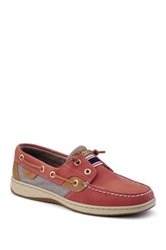 Sperry Rainbow Laceless Boat Shoe Red