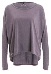 Skins Pixel Long Sleeved Top Haze Marle Purple